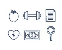 Business set collection icons. Vector illustration design Royalty Free Stock Photography