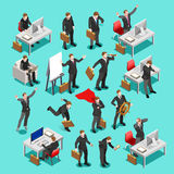 Business Set 3D Vector Isometric People Royalty Free Stock Photography