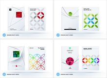 Business set of design brochure, abstract annual report, horizontal cover flyer in A4 stock illustration