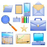 Business set with different stuff for work Royalty Free Stock Images