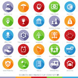 Business Set 01F. Business and Finance Long Shadow Flat Icons Set 01 Royalty Free Stock Image