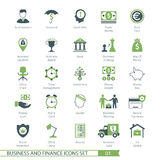 Business Set 01. Business and FIinance Icons Set 01 stock illustration