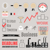 Business set, frames, infographic elements, icons Stock Photography