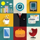 Business set of generic icons Stock Photos