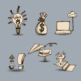 Business set Hand drawn Stock Images