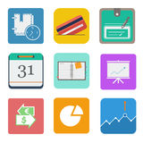 Business set icon. Business. business set icon on the white backgroung. vector illustration Stock Images
