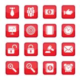Business set icons. Business strategy icons set. All elements are grouped Royalty Free Stock Photo