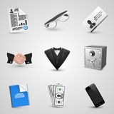 Business set icons Stock Photo