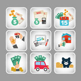 Business set icons. Design, vector illustration eps10 graphic Stock Photography
