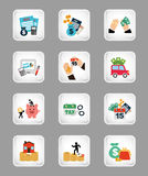 Business set icons. Design, vector illustration eps10 graphic Stock Photo
