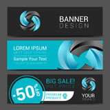 Business set of modern turquoise  banners Royalty Free Stock Photo