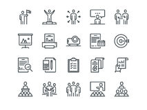 Business. Set of outline vector icons. Includes such as Business Meeting, Handshake, Agreement, One on One Meeting and. Other Stock Photography