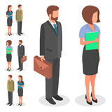 Business set people. Vector illustration. Business set people man and woman Stock Image