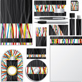 Business  set with ribbons Stock Photos