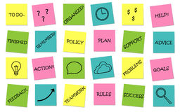 Business set of sticky notes messages. Vector Stock Image
