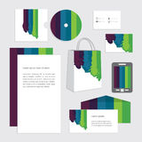 Business set template for your company. Flowing colorful design. Blank document for business using Stock Photos