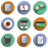 Business Set Workplace Icons Royalty Free Stock Images