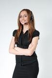 Business - Sexy call center operator isolated Stock Photos