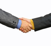 Business shake. Hands in a friendly mood Royalty Free Stock Photo