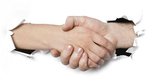 Business shake hand Stock Photography