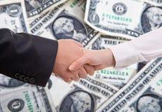Business shake hand Stock Photo