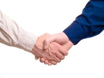 Business shake hand Stock Photos