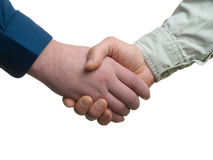 Business shake hand. Over white background Royalty Free Stock Images