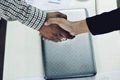 Business shake hand. stock images