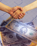 Business shake hands Stock Image