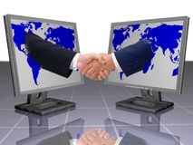 BUSINESS SHAKE HANDS Stock Images