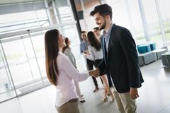 Business shaking hand with a client Stock Photos