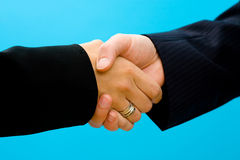 Business - shaking hands Stock Photos