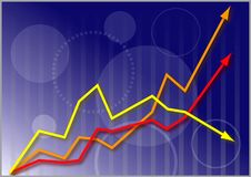 Business Share Market Graph Stock Photos