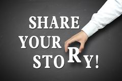 Business share your story concept Royalty Free Stock Photography