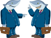Business shark. Vector color illustration Stock Photos