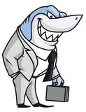 Business shark. Isolated illustration of  Business shark Royalty Free Stock Photos