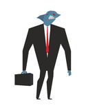 Business shark. Businessman with head sea predator. An evil pred Royalty Free Stock Photography