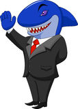 Business shark cartoon Stock Images