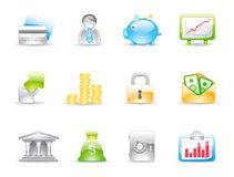 Business shiny icons Royalty Free Stock Photos