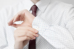 Business shirt detail Royalty Free Stock Image