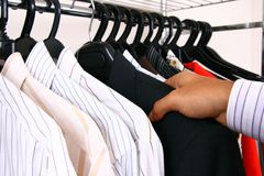 Business shirts on a hanger. Royalty Free Stock Images