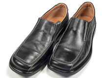 Business Shoes. A man's black trendy business dress shoes Royalty Free Stock Photos