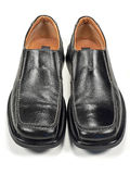 Business Shoes. A man's black trendy business dress shoes Stock Photo