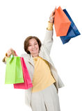 Businesswoman shopping Royalty Free Stock Photography