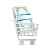 Business shopping cart illustration Stock Photography