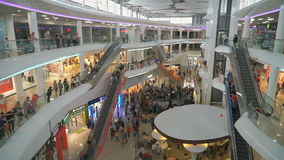 The Business Shopping Center. Many people. Crowded