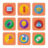 Business, shopping and marketing items icons Royalty Free Stock Images