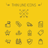 Business shopping thin line icon set Royalty Free Stock Photography