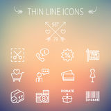 Business shopping thin line icon set Stock Images