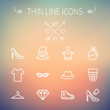 Business shopping thin line icon set Stock Image